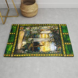 "Louis Comfort Tiffany ""Howell Hinds House Window"" Rug"
