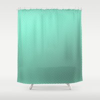 amy hamilton Shower Curtains featuring Amy  by Angela Pesic