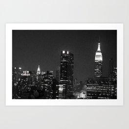 City By Night Art Print