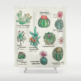 Cactus Dictionaly page1 Shower Curtain