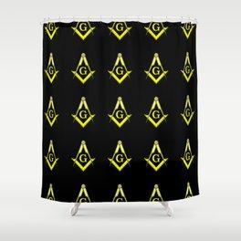 Square and Compasses – masonic, escauadera,compas,freemasonry, freemason. Shower Curtain