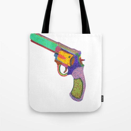 gun shoots color Tote Bag