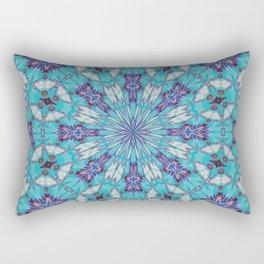 Eastern Redbud And The Bee Double Kaleidoscope Neon Rectangular Pillow