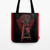 metal gear Tote Bags featuring Metal Power Gear by Akyanyme