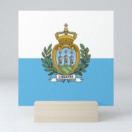 San Marino flag Mini Art Print