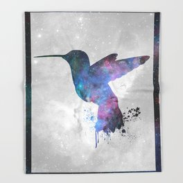 Galaxy Series (Hummingbird) Throw Blanket