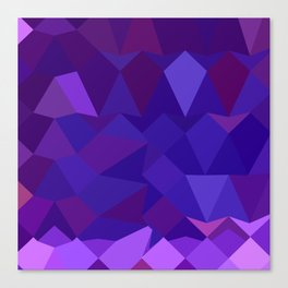 Eminence Purple Abstract Low Polygon Background Canvas Print