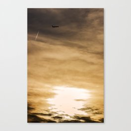 Allegiant Air MD90 departing McCarran Airport Las Vegas at sunset Canvas Print