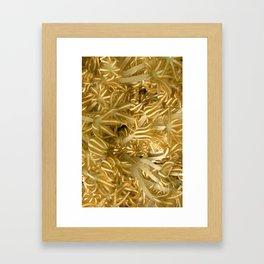 Grasping (in gold) Framed Art Print