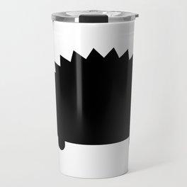 Spiky Echidna Silhouette Travel Mug