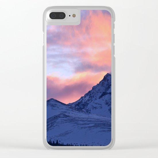 Rose Serenity Sunrise - II Clear iPhone Case