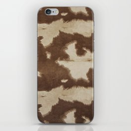 Brown and white cowhide 3 iPhone Skin