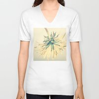 weed V-neck T-shirts featuring Weed by Dora Birgis