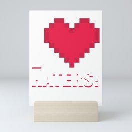 Sarcasm Puns Gift Hate Sarcastic Savage Gift I Love Haters Mini Art Print