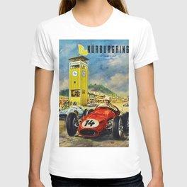 1957 Grand Prix Motor Racing Nurburgring Germany Vintage Advertising Poster T-shirt