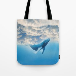 Swimming by the sky Tote Bag
