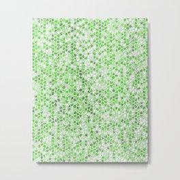 Pattern Mosaic Serie green Metal Print