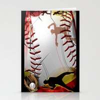 baseball Stationery Cards featuring Baseball by Robin Curtiss
