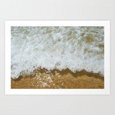 Sparkling ocean Art Print