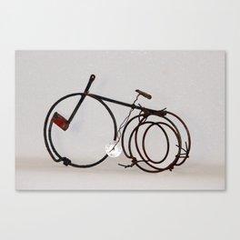 Bicycle, metallic sculpture by Annalisa Ramondino Canvas Print