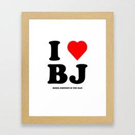 I love Boris Johnson Framed Art Print