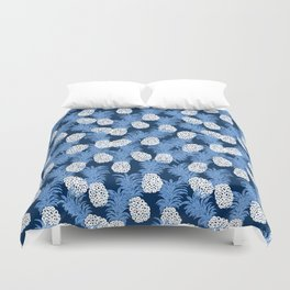 different pineapples Duvet Cover