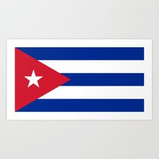 National flag of Cuba - Authentic HQ version Art Print