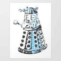 dalek Art Prints featuring Dalek Graffiti by spacemonkey89