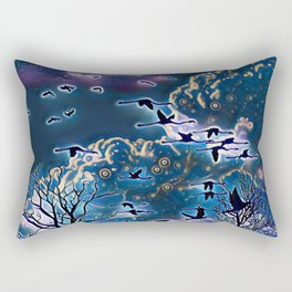 winter night scene Rectangular Pillow