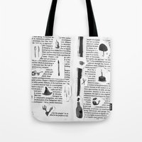 history Tote Bags featuring History by Frances Alvarez