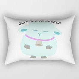 Go Fuck Yourself says the sheep Rectangular Pillow