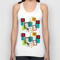 mid century modern Tank Tops featuring Mid-Century Modern Inspired Abstract by Kippygirl