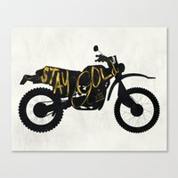 stay gold Canvas Prints featuring Stay Gold by Ride The Storm