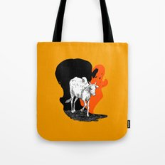 COW IS GOD Tote Bag
