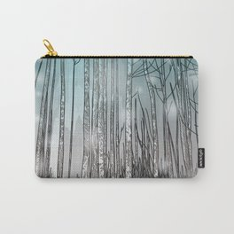Snowy Forest Scene Carry-All Pouch