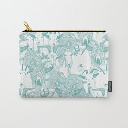 just goats teal Carry-All Pouch