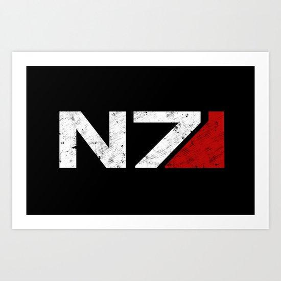 N7 Art Print