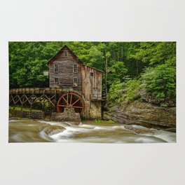 GLADE CREEK GRIST MILL SUMMER PHOTO - WEST VIRGINIA PICTURE - OLD MILL IMAGE - LANDSCAPE PHOTOGRAPHY Rug