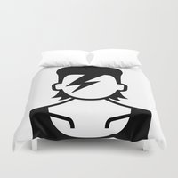 bowie Duvet Covers featuring Bowie  by triangle.cross