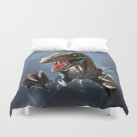 dinosaur Duvet Covers featuring dinosaur by Antracit
