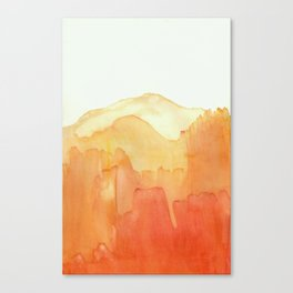 Orange Ombre Canvas Print