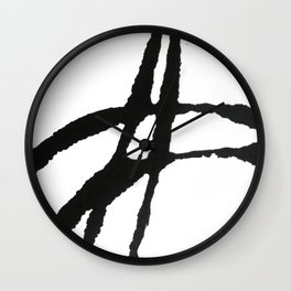0523: a simple, bold, abstract piece in black and white by Alyssa Hamilton Art Wall Clock