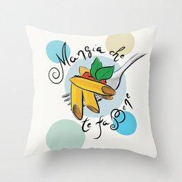 Pasta Mangia che te fa bene Throw Pillow