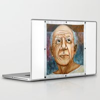 pablo picasso Laptop & iPad Skins featuring Pablo Picasso by Michael Cu Fua