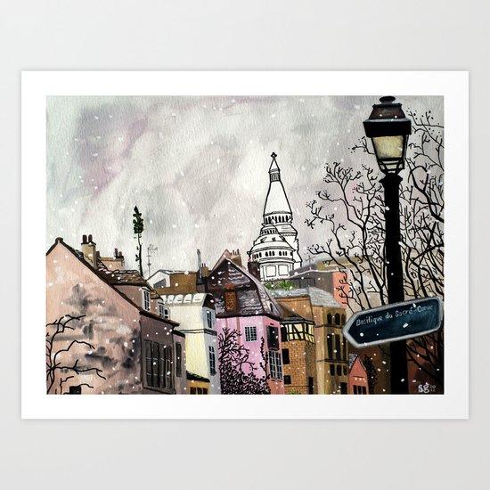 Sacre-Coeur Art Print