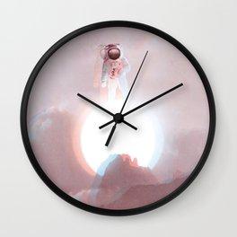 Astronaut on the Sun-Glitching Wall Clock