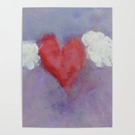 flying heart encaustic Poster