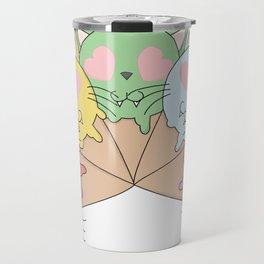 Kitty Ice Cream Rainbow Travel Mug