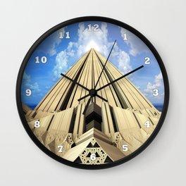 Pyramid of the Daylight Wall Clock