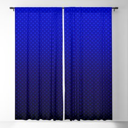 Blue Ombre with polka dots #gradient #polkadots #popular Blackout Curtain